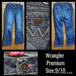 Wrangler Premium Patch Jeans Size 9/10 Bling